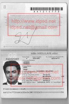 Printable Checks, Passport Online, Photoshop Software, Birth Certificate, Ielts, Citizenship, Social Security, Psd Templates, Greece