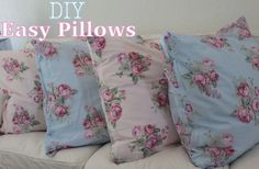 DIY - Shabby chic pillows