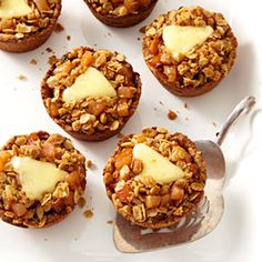 Mini Apple Pies with Cheddar. An adorable twist on deep-dish apple pie.
