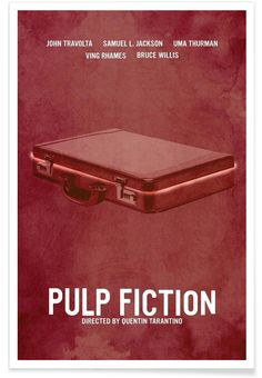 Pulp Fiction als Premium Poster von Calm The Ham | JUNIQE