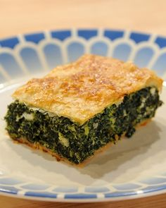 a european take on spanakopita - greek traditional spinach pie.  WAY better than my Greek girlfriend's recipe!!!!!!