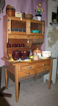 Antique Bakers Cabinet | Possum Belly Bakers Cabinet
