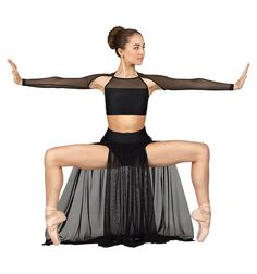 Emballe Long Mesh Skirt with Attached Brief - Tutus & Skirts | DiscountDance.com < Niko would wear that
