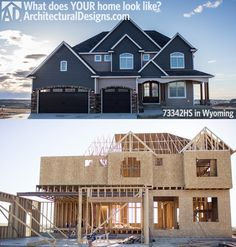 We'd love to see pictures of YOUR home built from one of ArchitecturalDesigns.com's  plans. Just like we love seeing exclusive house plan 73342HS come to life in Wyoming.  Tag your photos with #adhouseplans on Instagram or Twitter. Write us on Facebook or through our website. Heck, you can go old school and call us telling us you built one of our homes.  Ready when you are. What home did YOU build?