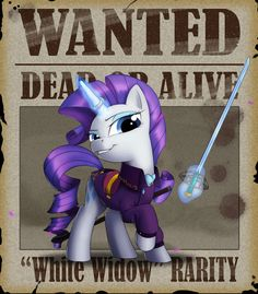Wanted - Rarity by Lionheartcartoon on deviantART