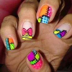 uñas muñeca - Buscar con Google Work Nails, Get Nails, Hair And Nails, Creative Nail Designs, Simple Nail Art Designs, Cute Nail Art, Easy Nail Art, Beach Toe Nails, Nail Art Techniques