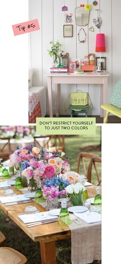 Don't restrict yourself to just two colors
