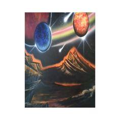 canvas scifi design gallery wrap canvas