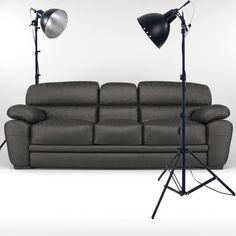 how set up a studio lighting  in 3ds max