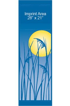 Summer Reeds - Stock banner 09210 Screen print outdoor fabric banners by Consort Display Group. #screenprint