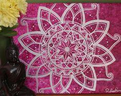 Blue Throat Chakra Mandala Painting Fifth Chakra  by AmethystFiree