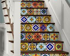 Tile Sticker Kitchen bath floor wall Waterproof & by SnazzyDecal