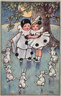 """Florence Hardy """"au clair de la lune trois petits lapins..."""""""