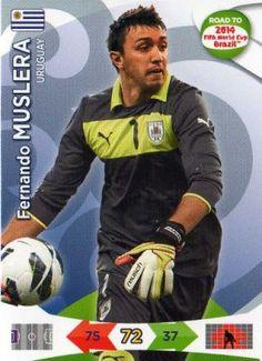 URUGUAY - Fernando Muslera #183 PANINI Road to 2014 FIFA World Cup Brazil Trading Card