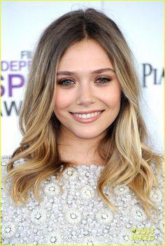 Elizabeth Olsen. Love this hair cut and color