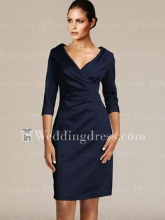 Would this be acceptable for me ? Lots of colors to choose from : ) Short V-Neck Mother Dresses with Sleeves Mother Of The Bride Gown, Mother Of Groom Dresses, Bride Groom Dress, Bride Gowns, Mothers Dresses, Mother Bride, Groom Attire, Mob Dresses, Dressy Dresses