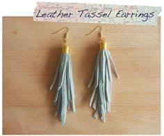 How to make leather tassel earrings.