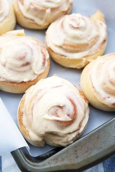 (Secret Ingredient Filled) Easy Overnight Cinnamon Rolls via chelseasmessyapron