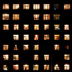 I love how behind every single window, there is a different person who has a story that we know nothing about.
