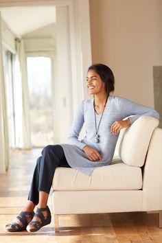 Pure Jill textured sweater tunic