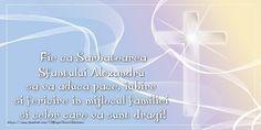 Fie ca Sarbatoarea Sfantului Alexandru sa va aduca pace, iubire si fericire in mijlocul familiei si celor care va sunt dragi! Pace, Weather, Chart, Sf