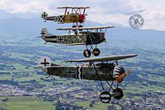 La impresión de Lona Red Baron Pared Arte Cartel Foto Foto aviones Fokker WW1
