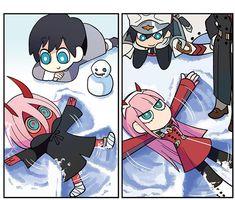 pic: Credits to the original artist pic is drawn by: Anime/Manga: Darling in the Franxx & Satsuriku no Tenshi