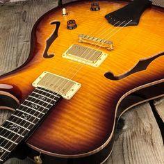 Just Arrived - Super rare @prsguitars SCJ in superb condition with hard case! #itsahighendguitarthing #semiacoustic #jazzer #boutique #guitarist #guitar #guitars #guitarporn