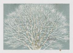 "Japanese Sosaku Hanga Tree Prints - Hajime Namiki., 15""x20"""