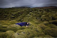 """I took my shoes off, to not damage sensitive Icelandic Moss. Please do not walk in shoes on moss."" – Iurie Belegurschi"