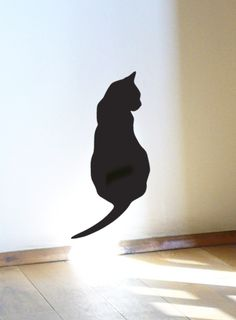 Thinking Black Cat Wall Sticker, Sitting Cat Decal from ODE, Handmade by Jolyon Yates by DaWanda.com