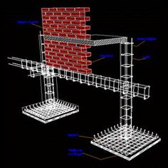 Zapata isolated in AutoCAD Civil Engineering Design, Civil Engineering Construction, Steel Frame Construction, Construction Design, Steel Drawing, Rebar Detailing, Single Floor House Design, Building Foundation, Model House Plan