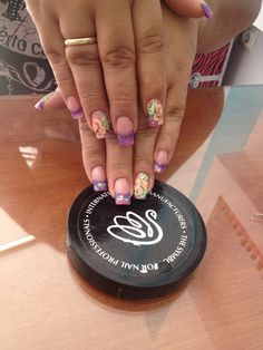 Acrylic Extensions INM products Micropittura by How To Do Nails, Fun Nails, Nail Games, Nails Magazine, Acrylic Nails, Extensions, Make Up, Nail Art, Summer