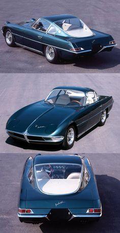 1963 Lamborghini 350 GTV / 1st prototype / Franco Scaglione / 342hp 3.5l V12 / green / Italy / 17-351