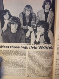 """gettingkindagroovy: """" The Byrds in 16 Magazine """""""