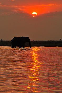 Sunset over Namibia. BelAfrique your personal travel planner - www.BelAfrique.com