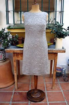 CHIC & RARE PIERRE CARDIN HAUTE COUTURE SILVER SILK LAME COCKTAIL DRESS, c.1960 | eBay