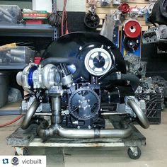 with ・・・ Hello Powered by TheLab AirCooled SpeedShop Bus DrawThrough for Huli in Hawaii. So sick, so clean! Volkswagen, Vw T1, Sand Rail Kits, Vw Turbo, Vw Engine, Beach Buggy, Classic Hot Rod, Performance Engines, Vw Cars