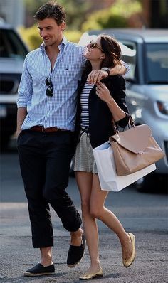 Olivia Palermo and Johannes Huebl// A couple that wears stripes together, stays together