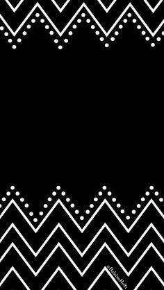 Black white chevron dots iphone wallpaper phone background lock screen