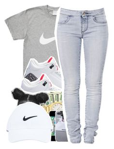 """Go Follow @royalqueen01"" by dopest-queens ❤ liked on Polyvore featuring NIKE, 7 For All Mankind, women's clothing, women, female, woman, misses and juniors"