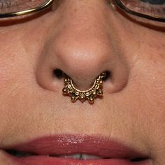 Studded Antiqued Non Pierced Septum Ring by EfflorescenceJewelry on Etsy