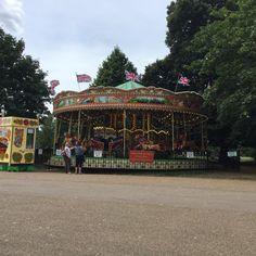 Merry Go Round at the Diana, Princess of Wales Memorial Playground in Kensington Gardens.