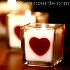 DIY Valentine Decor Ideas - Heart Embed Candles - Cute and Easy Home Decor Projects for Valentines Day Decorating - Best Homemade Valentine Decorations for Home, Tables and Party, Kids and Outdoor - Romantic Vintage Ideas - Cheap Dollar Store and Dollar Tree Crafts http://diyprojectsforteens.com/diy-valentine-decor-ideas #diypartydecorationscheap