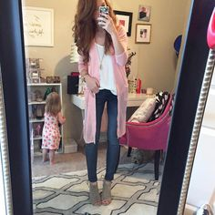 """Jimmy Choos & Tennis Shoes on Instagram: """"Pink cardi and Denim today! These tanks are the best and come in 19 different colors! My cardi also comes in 3 colors // Shop by registering for @liketoknow.it OR visit this link {www.liketk.it/1Bk5G} #liketkit"""""""