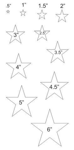 Plantillas De Estrellas Para Decorar.19 Tendencias De Estrellas Para Imprimir Para Explorar