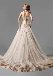 Beautiful gown with cascading edges.