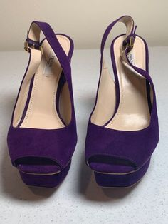 c3154d07e46 Extra Off Coupon So Cheap prada shoes 37 purple slingback suede gold buckle  Milano made comfortable