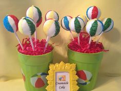 Hawaiian theme party - beach balls