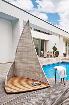 ber ideen zu gartendusche auf pinterest au enduschen duschvorh nge und vorh nge. Black Bedroom Furniture Sets. Home Design Ideas
